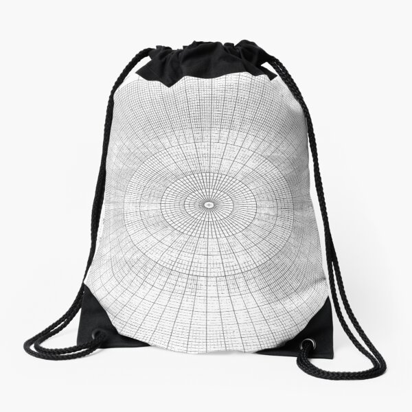 graph paper of polar coordinates #graph #paper #polar #coordinates #graphPaper #polarCoordinates Drawstring Bag