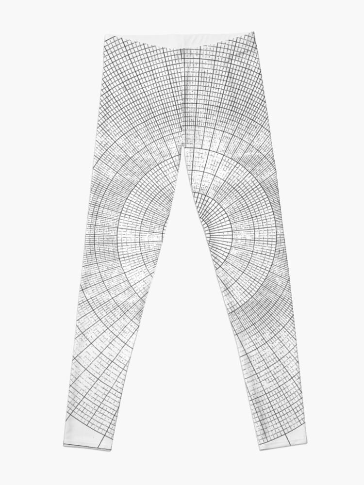 Alternate view of graph paper of polar coordinates #graph #paper #polar #coordinates #graphPaper #polarCoordinates Leggings