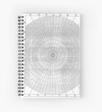 graph paper of polar coordinates, #graph #paper #polar #coordinates #GraphPaper #PolarCoordinates Spiral Notebook