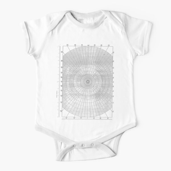 graph paper of polar coordinates, #graph #paper #polar #coordinates #GraphPaper #PolarCoordinates Short Sleeve Baby One-Piece