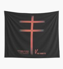 V for vendetta, minimal movie poster for film with Natalie Portman based on Alan Moore graphic novel Wall Tapestry