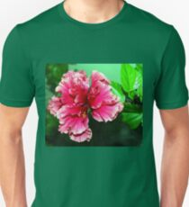 Deep pink double hibiscus T-Shirt