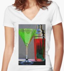 Christmas:  An Artsy Holiday Women's Fitted V-Neck T-Shirt