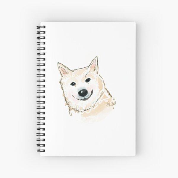 Snowglobe the shiba inu  Spiral Notebook