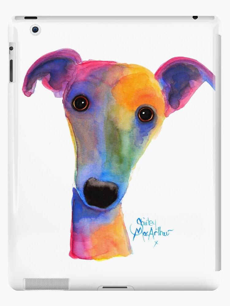 WHIPPET / GREYHOUND PRINT 'PANSY' Von Shirley MacArthur von Shirley MacArthur