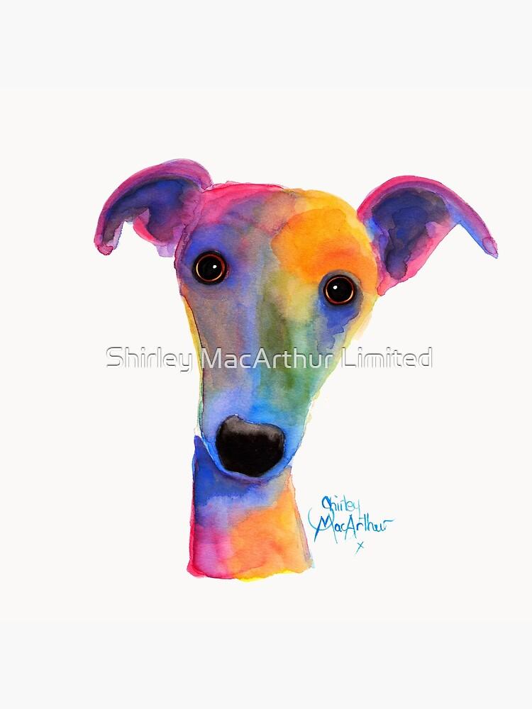 WHIPPET / GREYHOUND PRINT 'PANSY' Von Shirley MacArthur von ShirleyMacA