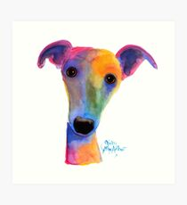 WHIPPET / GREYHOUND PRiNT 'PANSY' By Shirley MacArthur Art Print