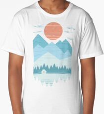 Cabin In The Snow Long T-Shirt