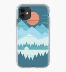Autumn morning in the alps iphone 11 case