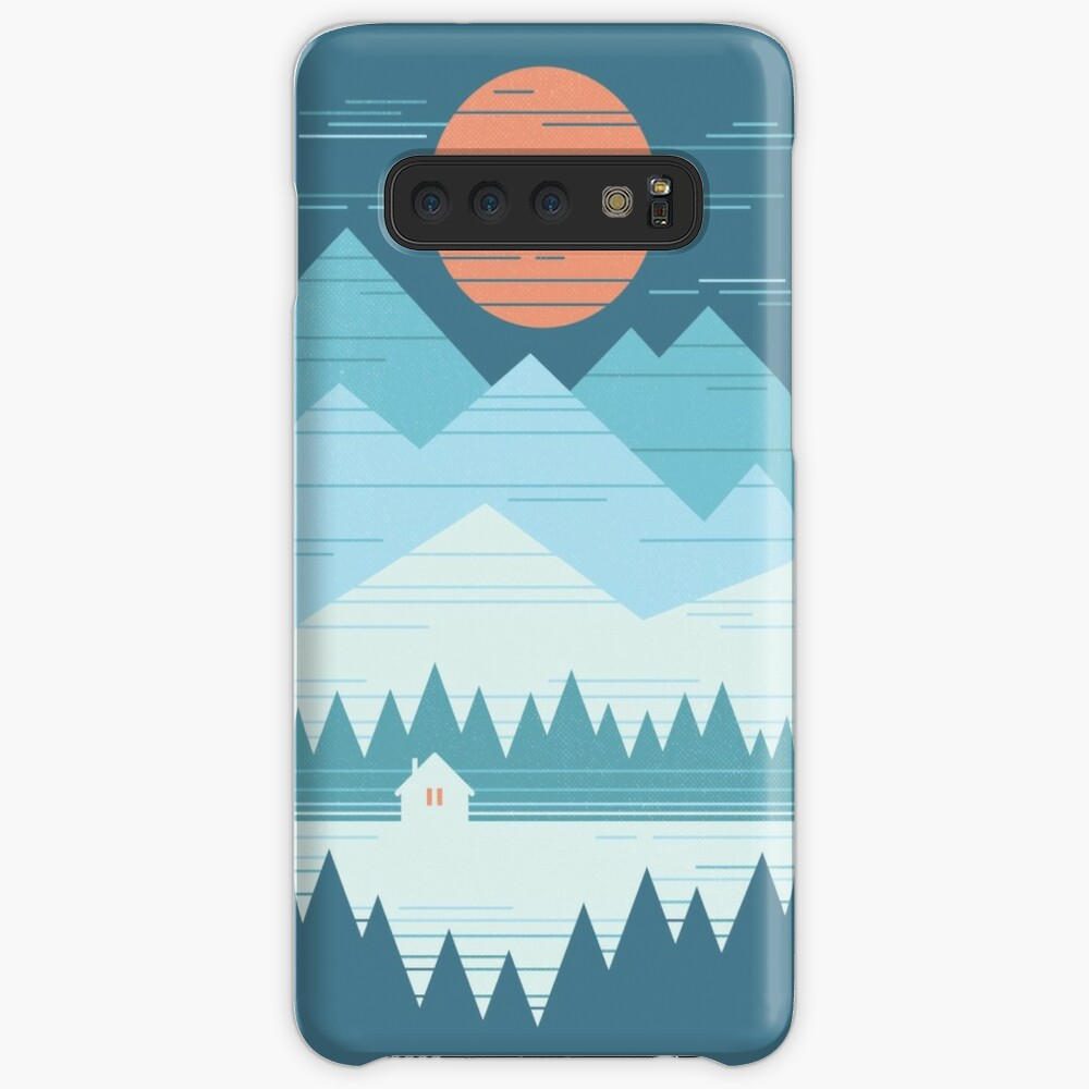Cabin In The Snow Case & Skin for Samsung Galaxy