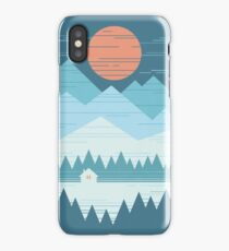 Cabin In The Snow iPhone XS Case