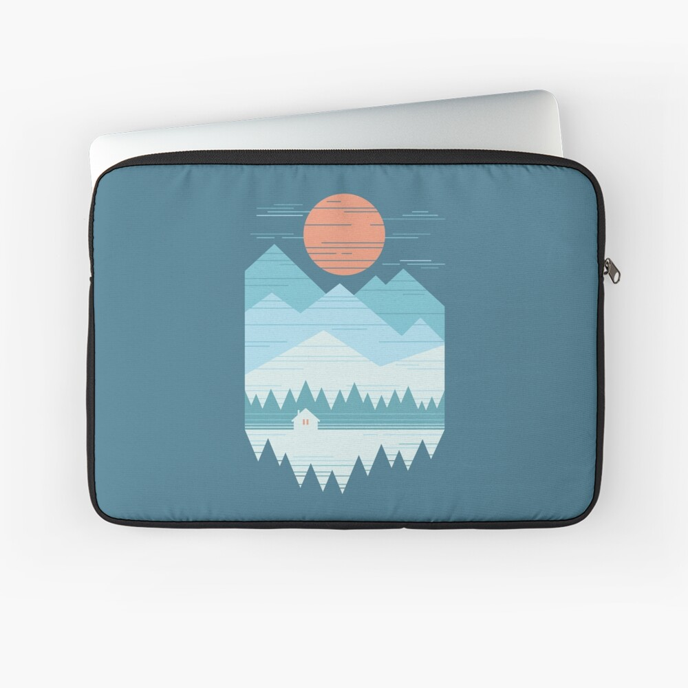 Cabin In The Snow Laptop Sleeve