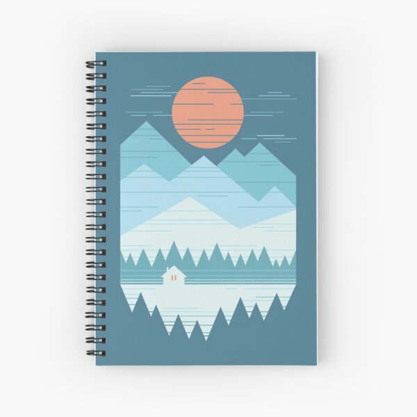 Cabin In The Snow Spiral Notebook