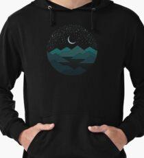 Sudadera con capucha ligera Entre las montañas y las estrellas