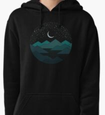Between The Mountains And The Stars Pullover Hoodie
