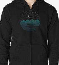 Between The Mountains And The Stars Zipped Hoodie
