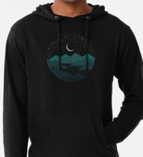 Between The Mountains And The Stars Lightweight Hoodie
