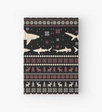 Shark Ugly Christmas Sweater Hardcover Journal