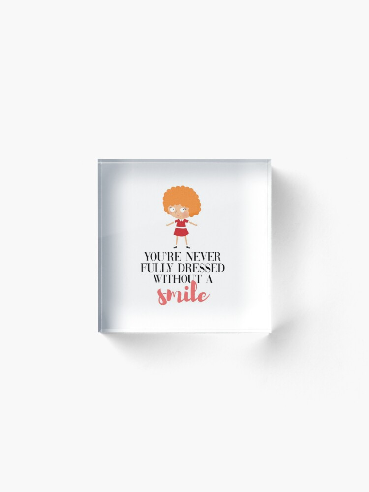Alternate view of Annie - smile Acrylic Block