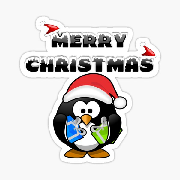 Merry Christmas Pinguin Sticker