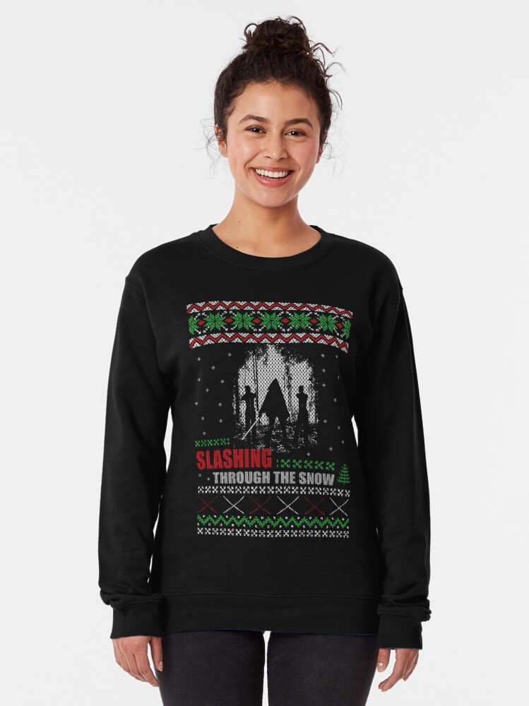 Alternate view of The Walking Dead - Michonne Ugly Christmas Sweater Pullover Sweatshirt