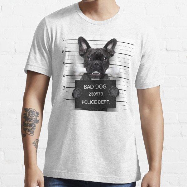 Funny French Bulldog Mugshot T-Shirt Essential T-Shirt