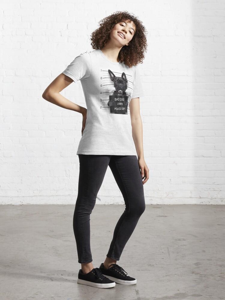 Alternate view of Funny French Bulldog Mugshot T-Shirt Essential T-Shirt