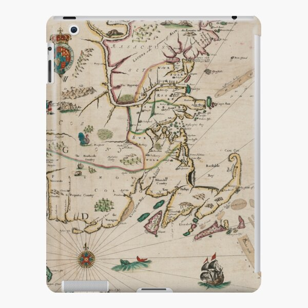 Vintage Map of New England (1675) iPad Snap Case