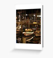 Christmas Lights at Fisherman's Warf Greeting Card