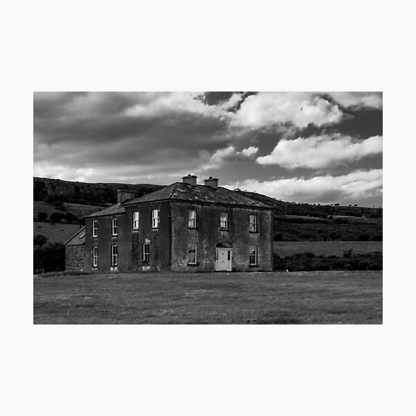 Father ted's House Black and white Photographic Print