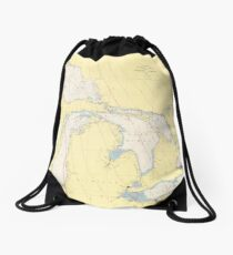 Vintage Map of The Great Lakes (1966) Drawstring Bag