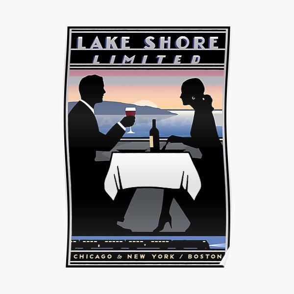 AMTRAK : Vintage Lake Shore Limited Railroad Advertising Print Poster
