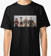 Horror Collage Funny Killer Mugshot Classic T-Shirt