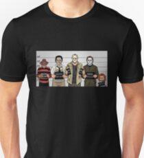 Horror Collage Funny Killer Mugshot Unisex T-Shirt