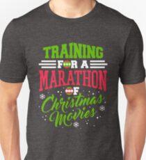 Training For A Marathon of Christmas Movies Unisex T-Shirt
