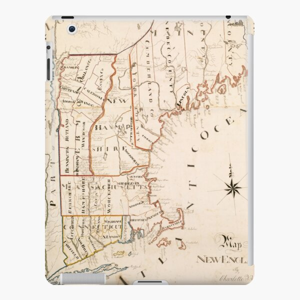 Vintage Map of New England (1830) iPad Snap Case