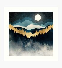Lámina artística Noche de indigo