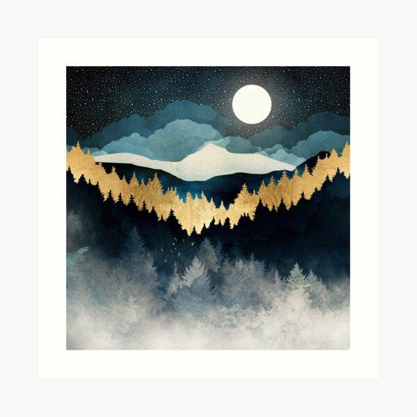Indigo Night Art Print