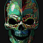 Sugar Skull Colorful Dark - 01 by Skullz23