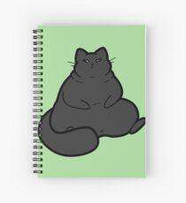 Plump Black Cat Spiral Notebook