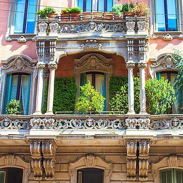 Majestic balcony. Milan. Via fratelli Ruffini. by terezadelpilar