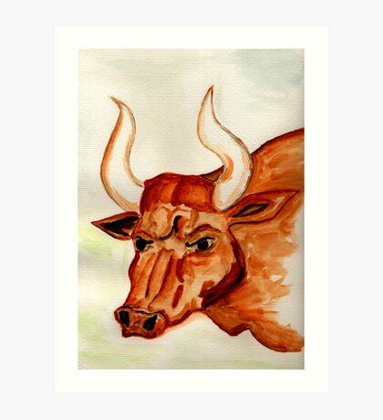 The Bull Horns Art Print