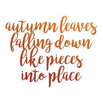 """Letra de """"hojas de otoño"""" de ellalucy"""