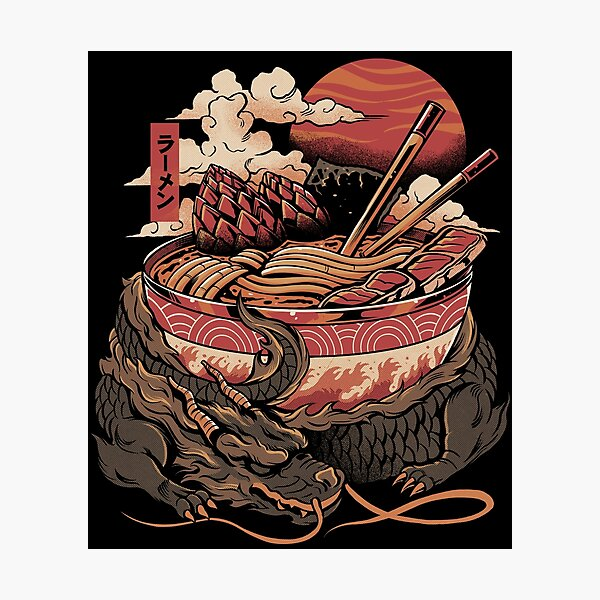 Dragon's Ramen Photographic Print