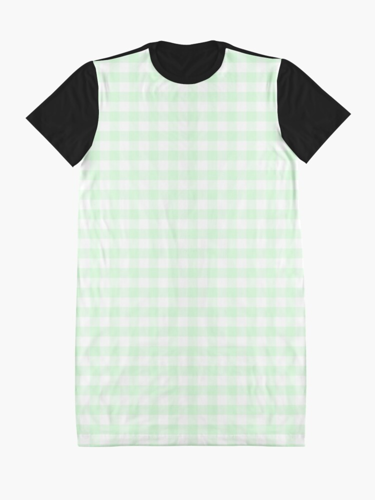 Alternate view of Mint Green Plaid Graphic T-Shirt Dress