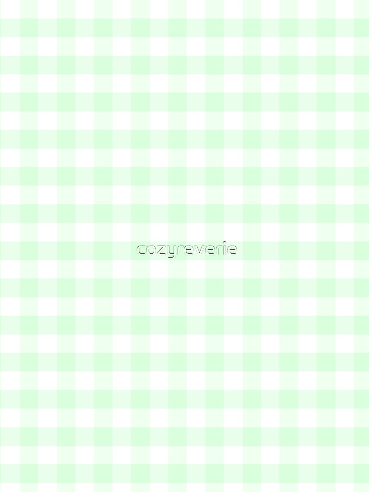 Mint Green Plaid by cozyreverie