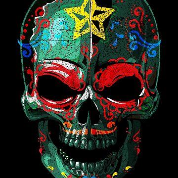Sugar Skull Colorful Dark - 02 by Skullz23