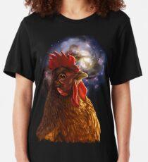 Chicken Galaxy Slim Fit T-Shirt