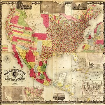 The Washington Map of the United States (1860) by allhistory