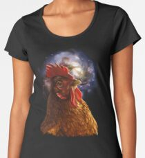 Chicken Galaxy Women's Premium T-Shirt